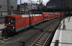 Die RB81 richtung Bargtheheide steht im Hamburger Hauptbahnhof