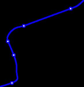 Karte des Streckenabschnitts